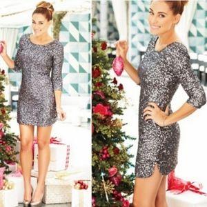 Lauren Conrad Silver Sequin Dress